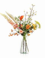 Kuntsbloemen boeket XL Happy Orange 110 cm