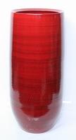 Keramieken vaas hoog Cresta rood 68 cm