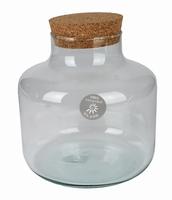 Glaspot laag met kurk