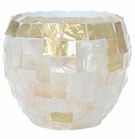 Oceana Couple yellow copper/ pearl white 42 cm