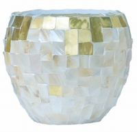 Oceana Couple yellow copper/ pearl white 50 cm
