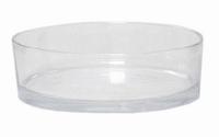 Cilinder schaal glas Ø 29 cm met een hoogte van 8 cm