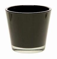 Glaspot Max zwart heavy glas