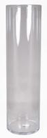 Cilinder vaas glas Ø 19 cm met een hoogte van 60 cm