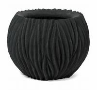 Bloempot River bowl zwart 45 cm