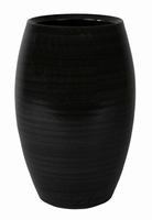 Keramieken vaas Cresta ebony 30 cm