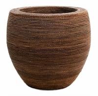 Bloempot Honey gemaakt van gevlochten touw 75 cm