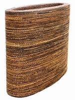 Plantenbak Honey Oval gemaakt van gevlochten touw L