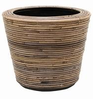 Drypot Rattan Stripe 35 cm