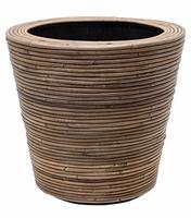 Drypot Rattan Stripe 42 cm
