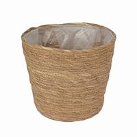 Mand van stro met plastic aan de binnenkant L