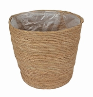 Mand van stro met plastic aan de binnenkant XL