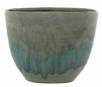 Keramieken plantenbak Lara licht blauw 27 cm