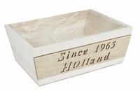Houten bak rechthoekig wit Since 1963 Holland