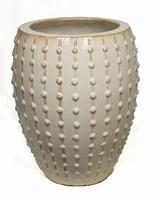 Keramieken plantenbak Laos Emperor crème glans