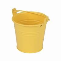 Zinken emmertje geel mat Ø 8,2 cm