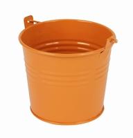 Zinken emmertje oranje glans Ø 10,3 cm