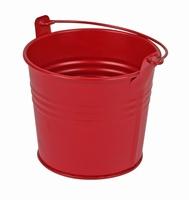 Zinken emmertje rood mat Ø 10,3 cm