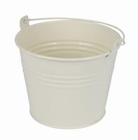 Zinken emmertje crème glans Ø 11,7 cm