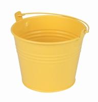 Zinken emmertje geel mat Ø 11,7 cm
