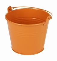 Zinken emmertje oranje glans Ø 11,7 cm