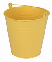 Zinken emmer geel mat Ø 15,5 cm