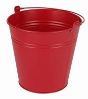 Zinken emmer rood mat Ø 15,5 cm