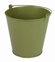 Zinken emmer groen mat Ø 15,5 cm