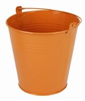 Zinken emmer oranje glans Ø 15,5 cm