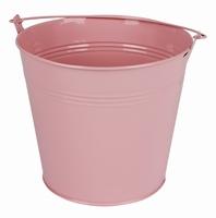 Zinken emmer roze glans Ø 17,8 cm