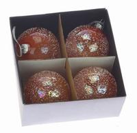 Kerstballen oranje 8 cm