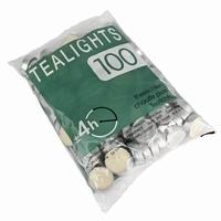 Waxinelichtjes wit per zak van 100 stuks