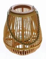 Lantaarn van bambou hout met touw