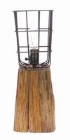 Lamp Parijs van hout en metaal