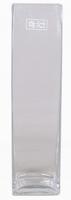 Accuvaas glas langwerpig smal 40 cm hoog heavy glas