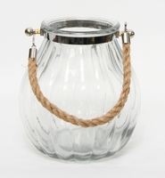 Bolglas Hanger helder met touw