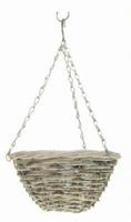 Hanging basket trento white wash