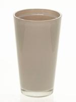 Glaspot gekleurd hoog taupe heavy glas