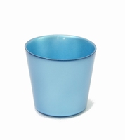 Glaspot blauw metallic
