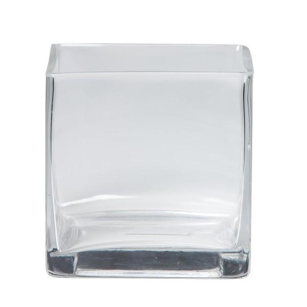 Accubak glas vierkant heavy glas recht 12 cm