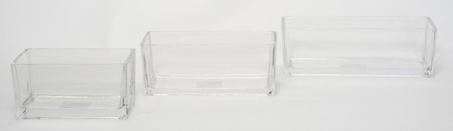 Accuschaal laag konisch langwerpig 30 cm heavy glas