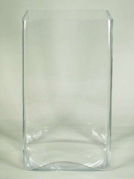 Accuvaas glas hoog vierkant 20 cm x 35 cm heavy glas