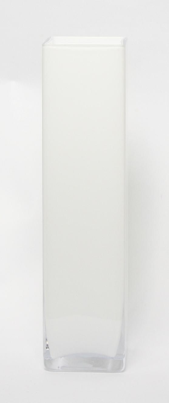 Accuvaas wit glas 10 cm breed 50 cm hoog heavy glas