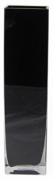 Accuvaas zwart glas 10 cm breed 40 cm hoog heavy glas