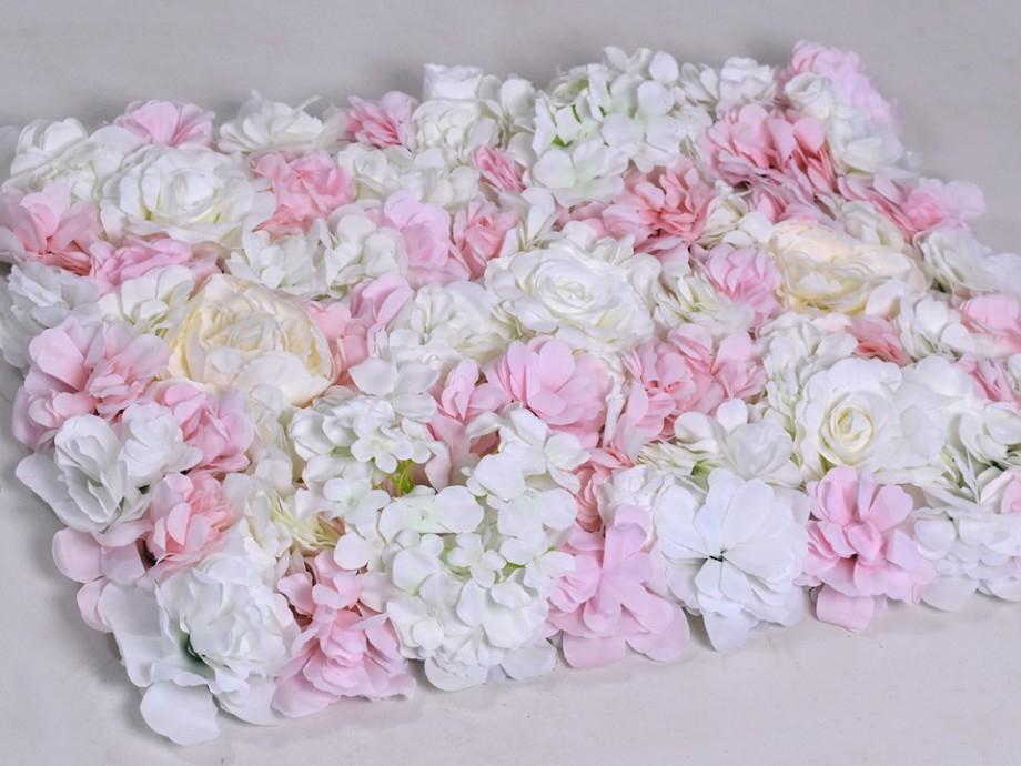 Bloempaneel wit roze