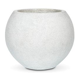 Bloempot Capi Lux bowl rond lichtgrijs