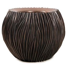 Bloempot River bowl antiek bronze 75 cm