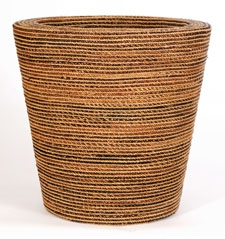 Bloempot Round natural weave