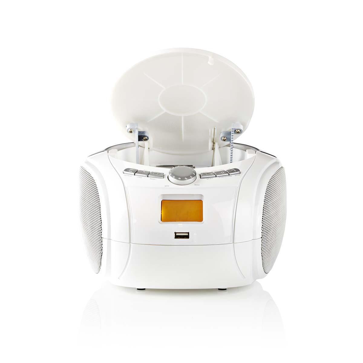 Boombox 9 W Bluetooth® CD-speler Wit