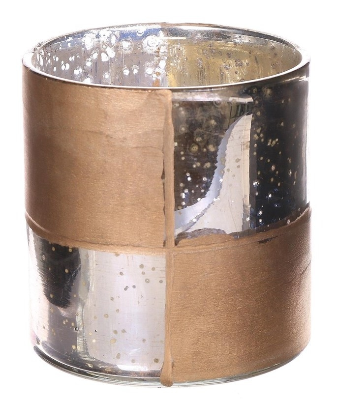 Candle holder glas Oxidise Liré gold in 2 afmetingen